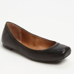 Lucky Brand Black Leather Santana Flats